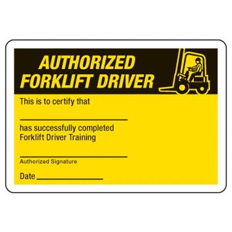 forklift license wallet card template certification photo wallet cards authorized forklift