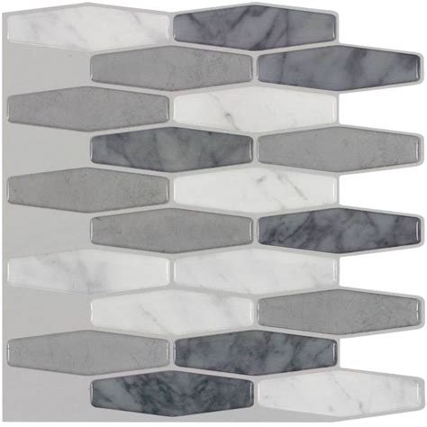 best peel and stick tile shop peel stick mosaics peel and stick marble long hex