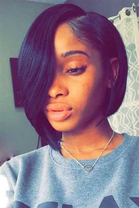 a line bob weave 10 short simple sew in hairstyles you ll love
