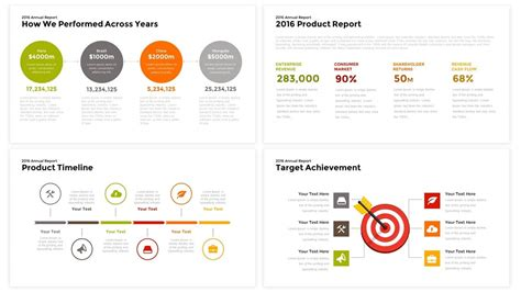 Annual Report Powerpoint And Keynote Template Slidebazaar Annual Report Template