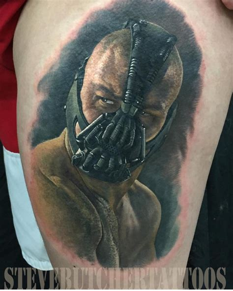 bane tattoo bane portrait on shoulder best ideas gallery