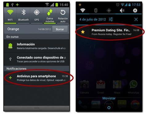 barra superior de android publicidad en las notificaciones de android emezeta