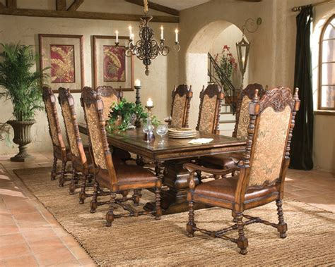 Mediterranean Dining Room Furniture Aspen Rectangular Dining Table 96 Mediterranean Dining Room Los Angeles By Fratantoni