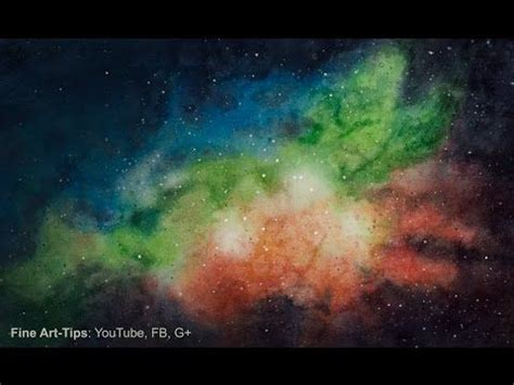 watercolor nebula tutorial youtube galaxies and watercolors on pinterest