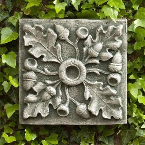 Garden Wall Plaque Cania International Acorn Outdoor Wall Art Plaque Aged