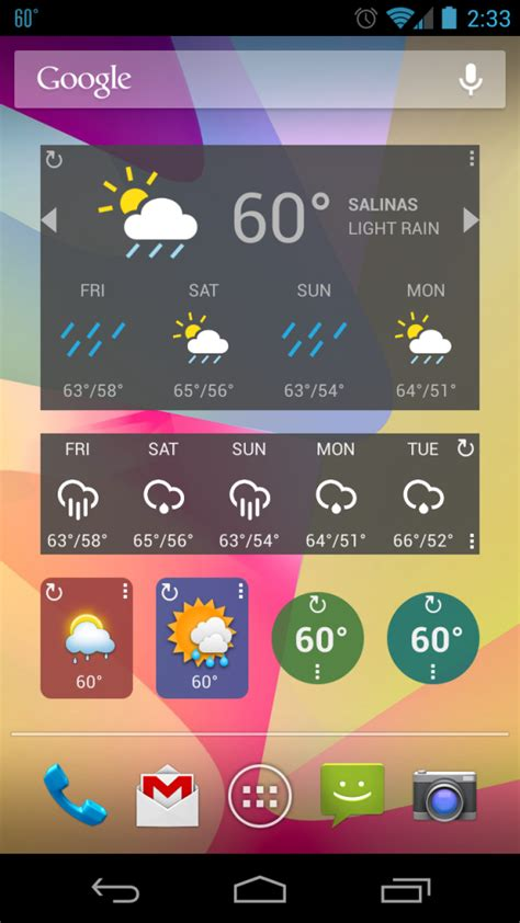 weather for android best android weather widgets for decorating your home screen