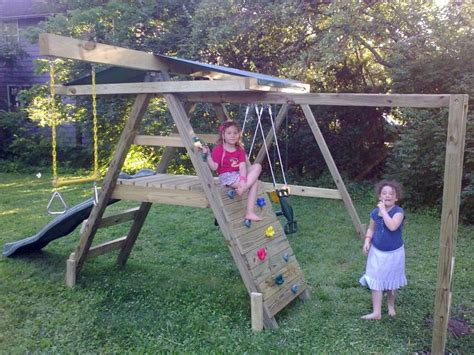 swing set with rock climbing wall mike s swing sets prices