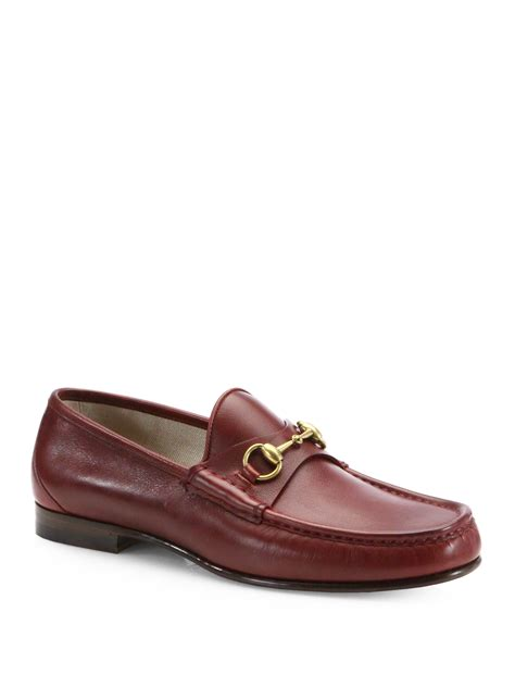 horsebit gucci loafers lyst gucci roos 1953 horsebit loafers in brown for