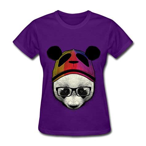 design t shirt unique unique design short sleeve t shirt women a cute panda