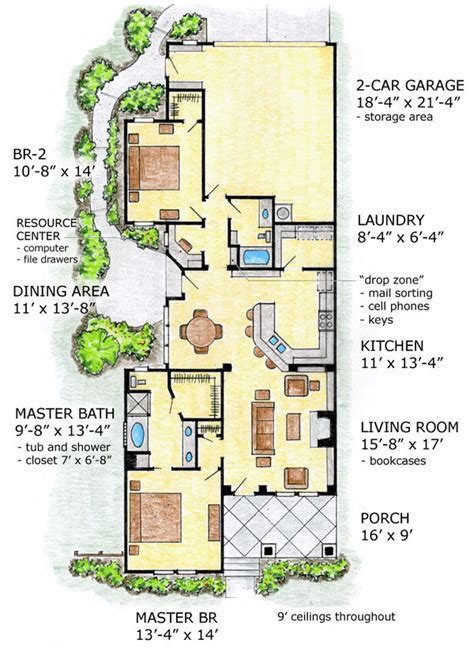 Narrow Lot House Plans Narrow Lot Craftsman House Plans Narrow Lot House Plans With Courtyard Craftsman Home Plans For