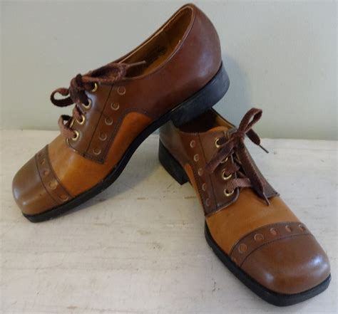 vintage buster brown shoes 1970s brown oxfords 70s