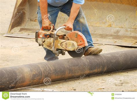 Cutting Plumbing Pipe by Cutting Pipe Royalty Free Stock Photos Image 31600258