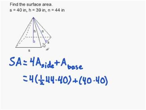 How To Find For A How To Find The Surface Area Of A Regular Pyramid