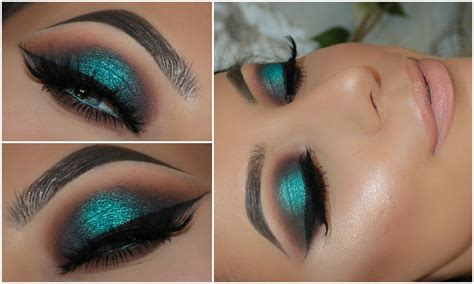 makeup for of color halo teal pop of colour smokey eye amys makeup box