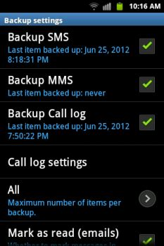 how to backup sms and mms on any android device?