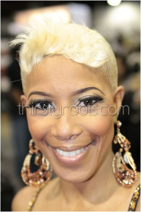 platum blonde hair on black women black women with short platinum hair