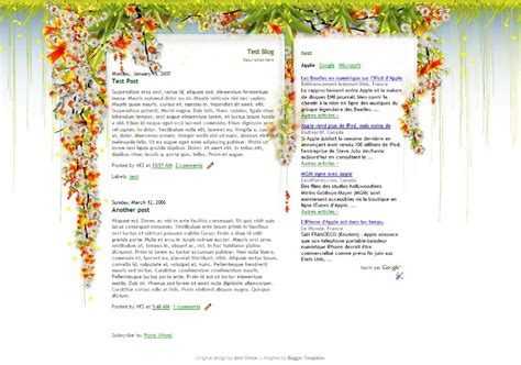 theme blog xml 50 most beautiful blogger templates hongkiat