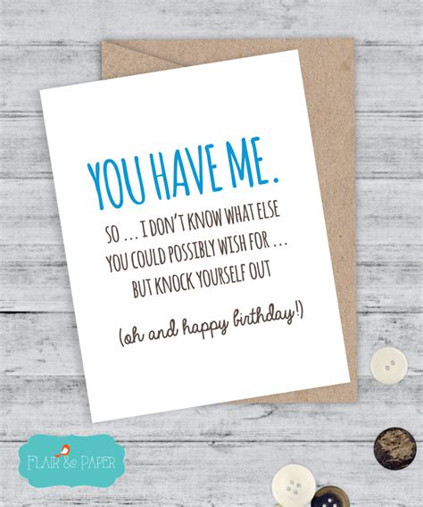 printable birthday cards for a boyfriend birthday card boyfriend card funny birthday card i love