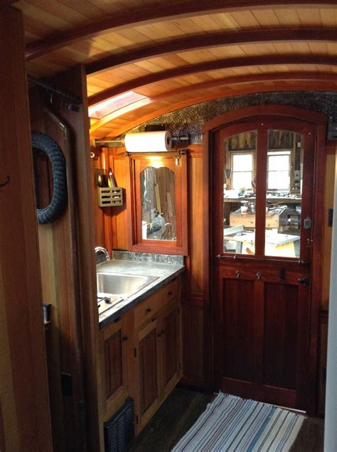 Travel Trailers Floor Plans interior photos of greg ryan s gypsy wagon the shelter blog