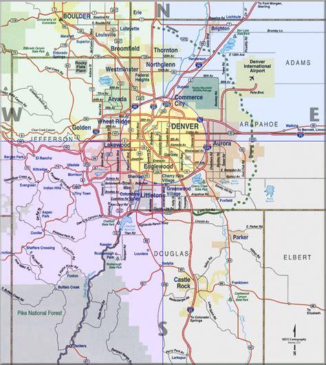 denver maps denver metro map