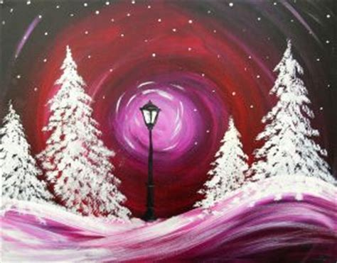 paint with a twist winter winter painting tints shades narnia inspired