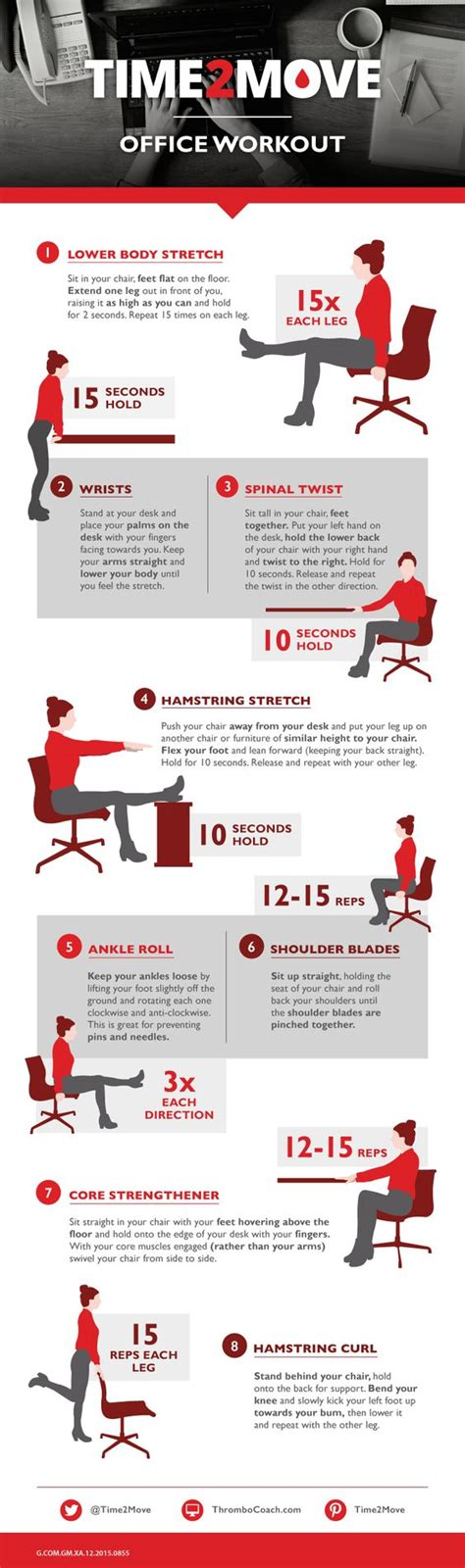 Office Desk Workouts To Be The Office And Chairs On Pinterest