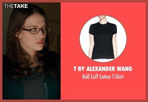 T Shirt Kats Black dennings t by wang roll cuff cotton t shirt