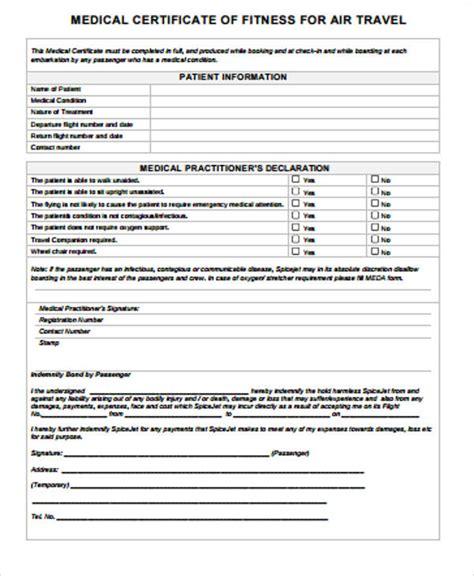 sample medical certificate  examples  word