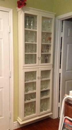 custom  kitchen shallow wall cabinet  glass doors