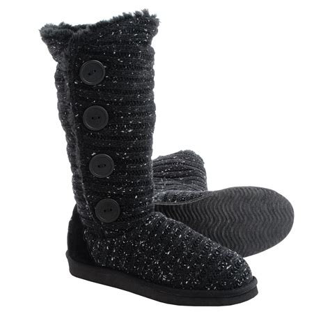 muk luks knit boots muk luks melana knit boots for in black