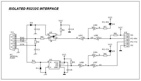 Kabel Data Led Protect Indikator isolated duplex rs232 interface