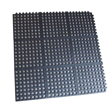 Plastic Floor Mat - buffalo tools 3 ft x 3 ft interlocking rubber mats 4