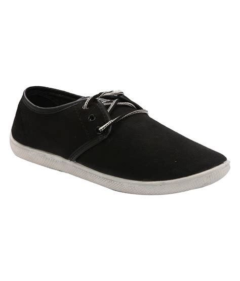 bahulla black satin canvas shoe price in india buy