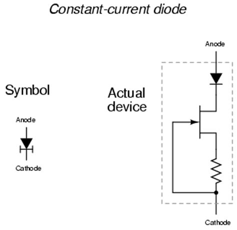 diodes in series opposing jfet current regulator semiconductors
