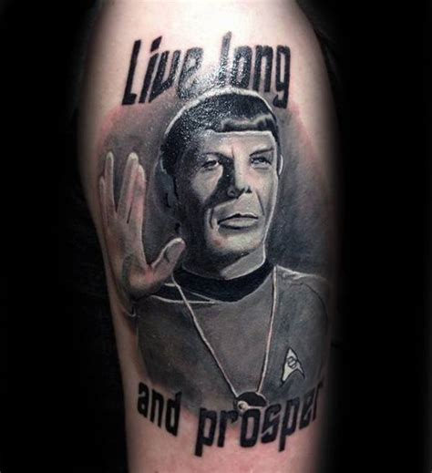 live long and prosper tattoo 50 trek designs for science fiction ink