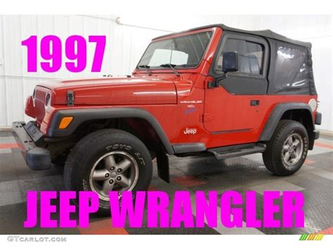 flame red jeep 1997 flame red jeep wrangler sport 4x4 97396085 photo 25