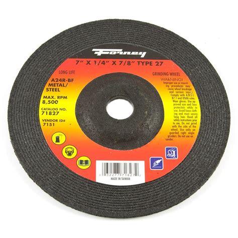 Cutting Wheel 16 Nippon Resibon forney 7 in x 1 4 in x 7 8 in metal type 27 wheel 71827 the home depot