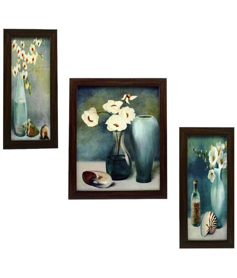 framed wall indianara matte wooden frame 3 set of framed wall hanging buy indianara matte wooden