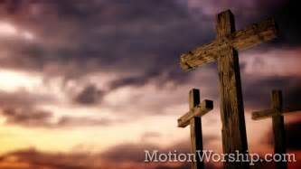 on that rugged cross rugged cross calvary sunset hd looping background by