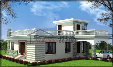 single floor house single storey elevation 3d front view for single floor
