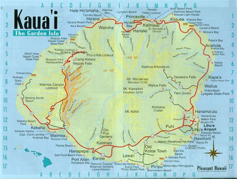 road map of hawaii maps of kauai 16 kauaimap jpg travel