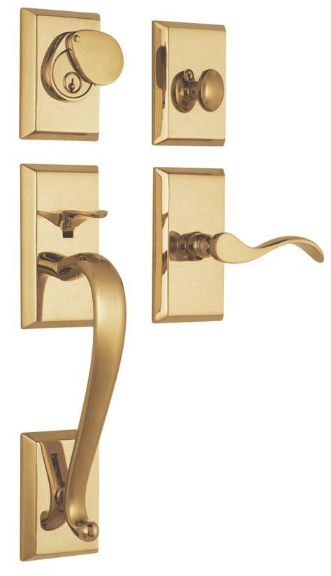 Brass Front Door Hardware Savoy Solid Brass Entry Door Handle Set In Lifetime