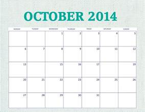 printable 2014 calendar template october 2014 calendar printable