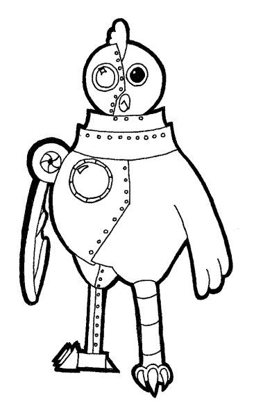 chicken dance coloring page robot chicken images to print free printables