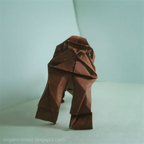 How To Make Origami Gorilla - gorila opus 22 origami brasil