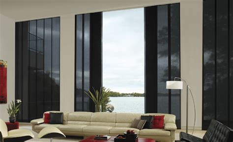 Drapes Bay Window Hunter Douglas Skyline Gliding Window Panels Bay Area