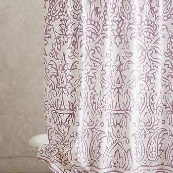 block print shower curtain ava block print shower curtain lavender ballard designs