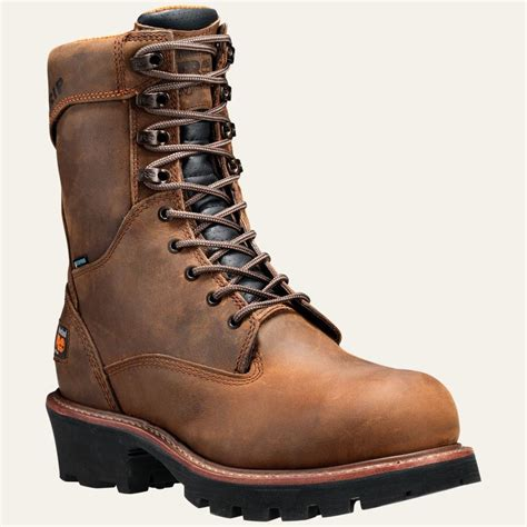 timberland logger boots timberland pro boots mens 9 quot rip saw steel toe logger