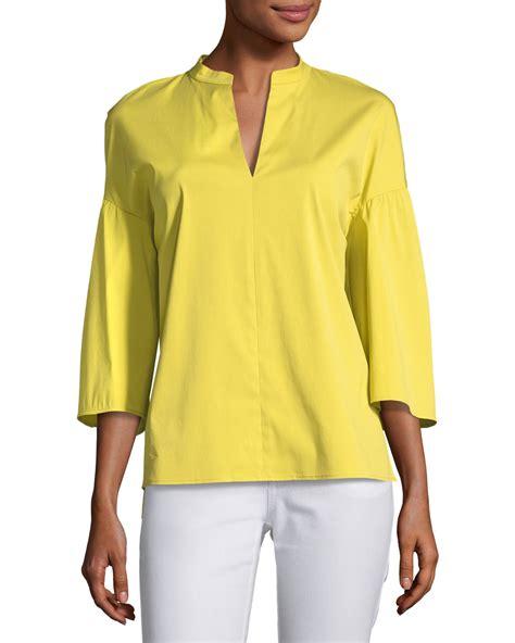 Carla Blouse lafayette 148 new york carla stretch cotton blouse plus