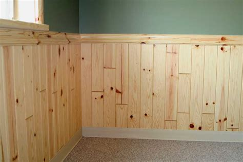 Pine Wainscoting Panels Finish Your Home With Wood Siding Trim